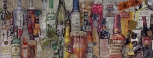 "R!ch Cihlar - Original Mixed Media ""Eat, Drink, and be Merry"""