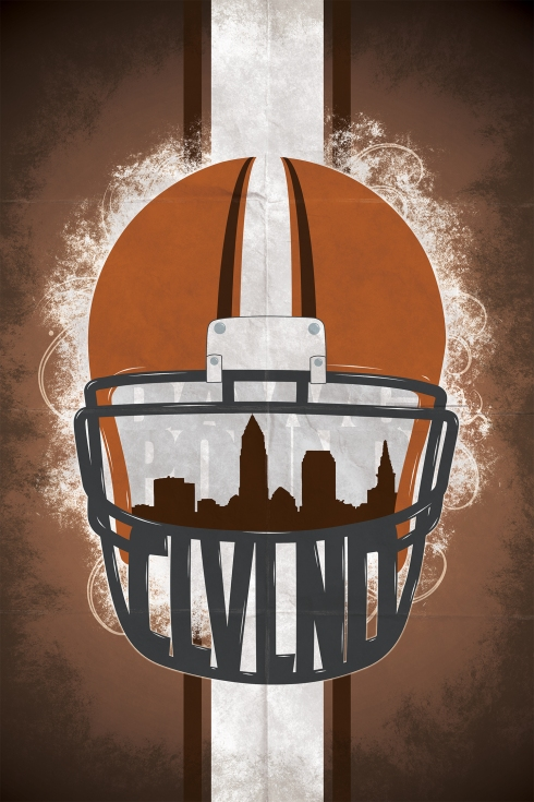 Ian Cramer - Signed and Numbered Print, Cleveland Browns